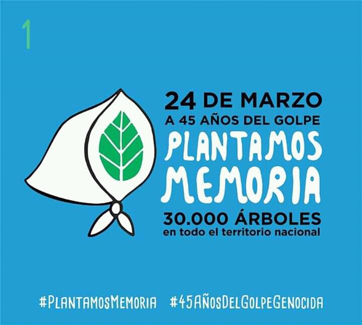 """La APDH y otras organizaciones proponen """"plantar Memoria"""" a 45 años del golpe"""