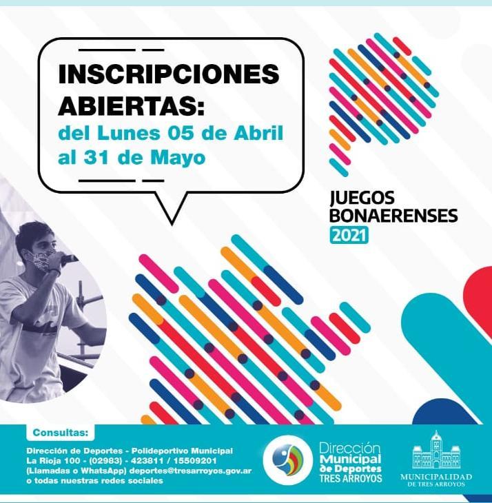 Este año los Juegos Bonaerenses serán con modalidad presencial y virtual