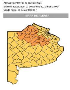 Alerta amarilla en Tres Arroyos y la zona por fuertes tormentas