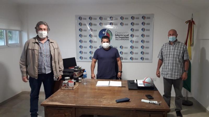 Orsili se reunió con autoridades de la Asociación Tresarroyense de Básquet