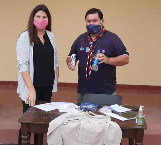Rosío Antinori visitó al Grupo Scout Tomás Santa Coloma