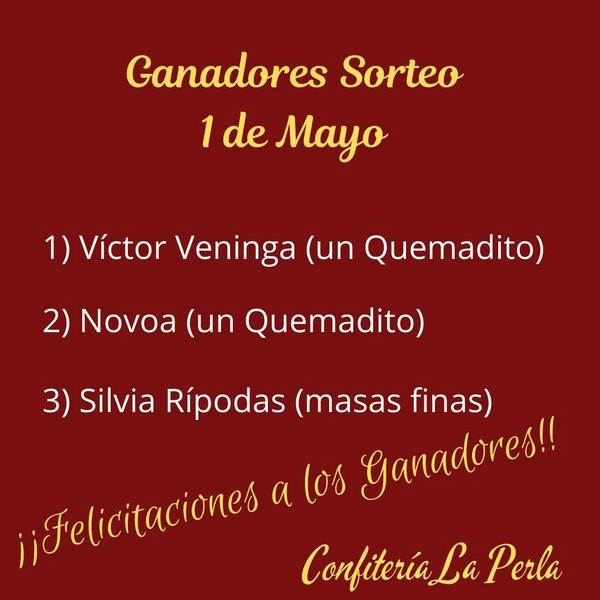 Ganadores del sorteo 1 de mayo de La Perla