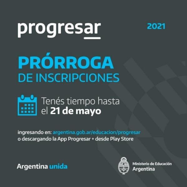 Chaves: se extiende hasta el 21 de mayo la inscripción a becas PROGRESAR