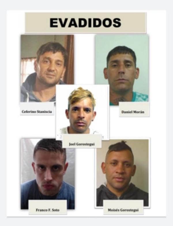 Continúa la búsqueda de los cinco presos fugados de la comisaría local