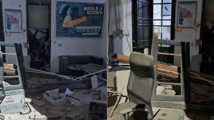 Grave explosión en un local de La Cámpora en Bahía Blanca: la policía cree  que es intencional - Lu24
