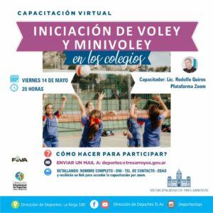 Capacitación virtual sobre Voley y Mini voley a cargo de la Dirección de Deportes
