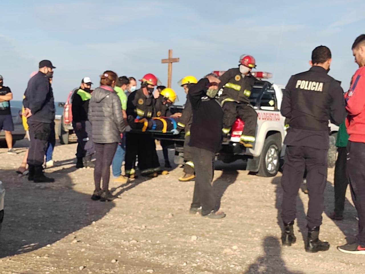 Motociclista lesionado en Claromecó resultó con fractura de tibia y peroné