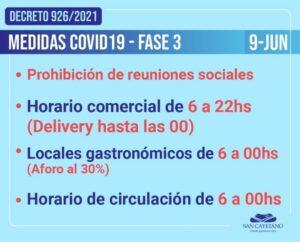 San Cayetano en Fase 3: se prohíben las reuniones sociales
