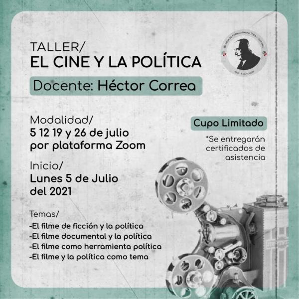 """Abrió la inscripción para el taller """"El cine y la política"""""""