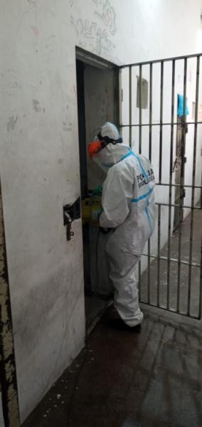 Desinfectaron la Comisaría Primera y dieron charla sobre coronavirus