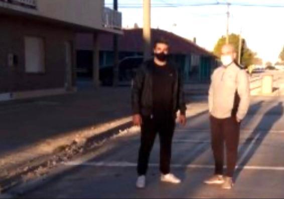 Hugo Fernández y Julián Lamberti recorrieron obras en Claromecó