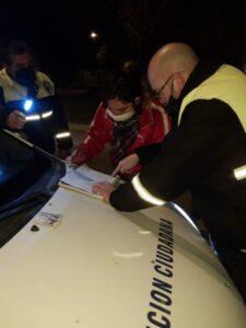 Se labraron 14 infracciones en controles nocturnos por circular sin la documentación necesaria