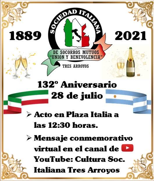 Acto por el 132º Aniversario de la Sociedad Italiana