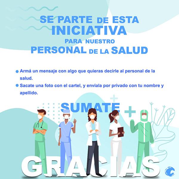 """Invitan a participar de la iniciativa: """"Agradecimiento al personal de salud"""""""