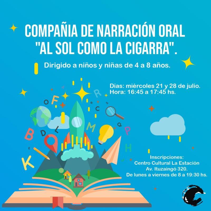"""CCE: últimos cupos para el taller de narración oral de """"Al Sol como la Cigarra"""""""