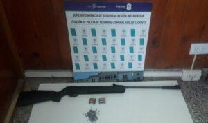 Allanamiento en Chaves: secuestran el aire comprimido con que menor dañaba casas