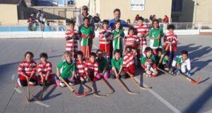 """Encuentro de """"Escuelitas"""" de hockey sobre patines en el Club Sindicato Municipal"""