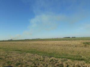 Incendio en un campo en cercanías a Vázquez