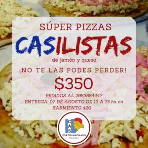 Venta de súper pizzas CASilistas