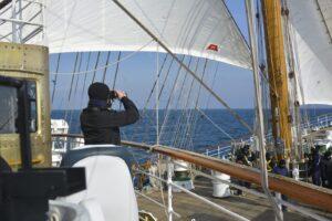 La tripulación de la Fragata Libertad se sorprendió por el caluroso recibimiento