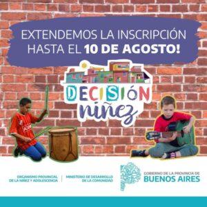 """""""Decisión Niñez"""": presentación y extensión de fecha de inscripción"""