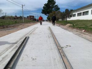 Claromecó: siguen los trabajos de pavimentación