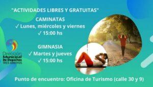 Caminatas saludables y gimnasia en Claromecó
