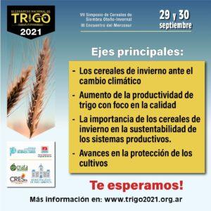 Tres Arroyos será sede virtual en el Congreso Nacional del Trigo