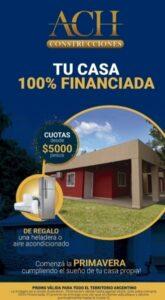 ACH Construcciones ofrece viviendas de calidad premium en cuotas fijas y en pesos