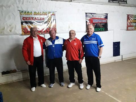 Bochas: Tres punteros en veteranos