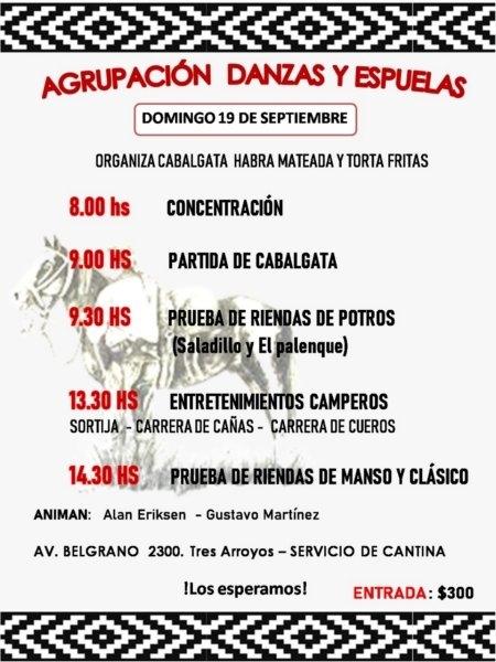 Danzas y Espuelas organiza una Cabalgata el domingo desde las 9:00