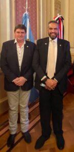 San Cayetano: Gargaglione se reunió con embajadores de Egipto y Kuwait