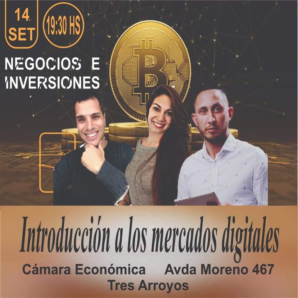 """Convocan a una charla sobre """"Mercados Digitales"""" en la Cámara Económica"""