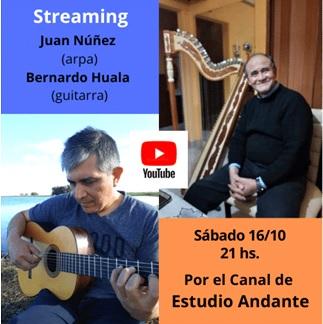 Juan Núñez y Bernardo Huala en Concierto por Streaming