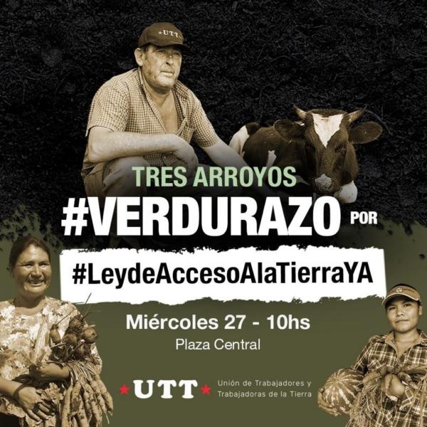 """Mañana habrá un """"Verdurazo"""" para pedir por la Ley de Acceso a la Tierra"""