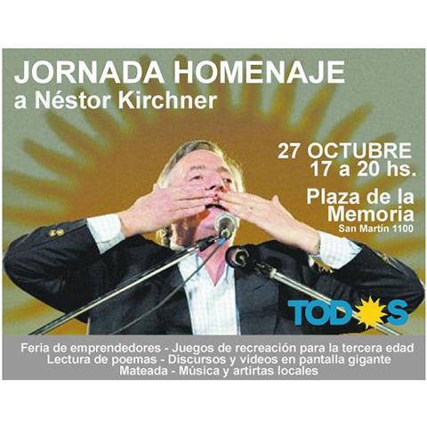 Convocan a una jornada homenaje a Néstor Kirchner