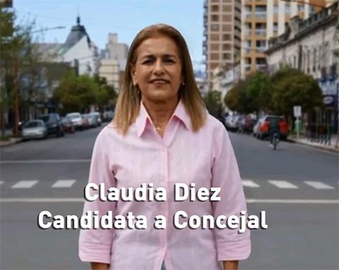 """Claudia Diez: """"Cuando votás al Movimiento Vecinal te asegurás un sistema de salud como el que vos te merecés"""" (video)"""