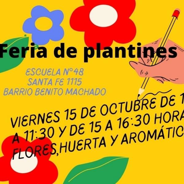 Feria de plantines en la Escuela 48