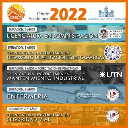 Cinco carreras en la oferta académica de CRESTA para el 2022