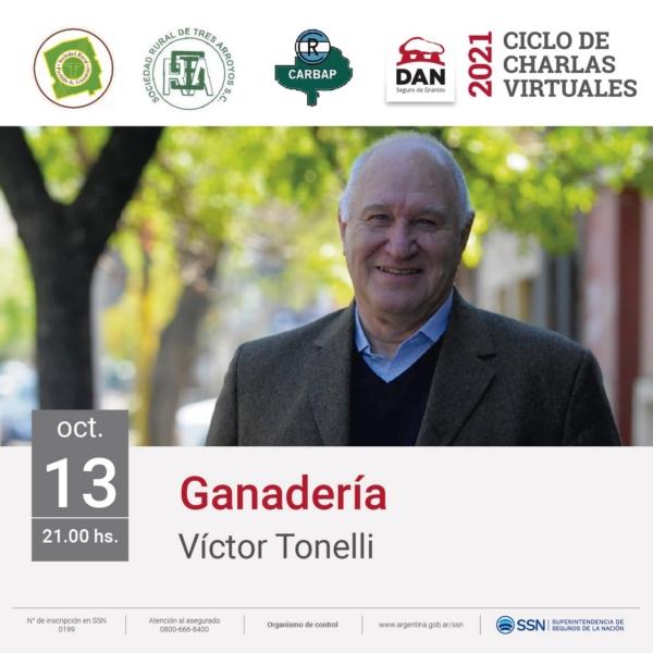 Ciclo de Charlas de la Dan: Víctor Tonelli disertará sobre el panorama ganadero