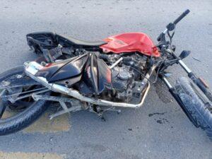 Accidente en Ruta 228 y Suipacha: Motociclista al Hospital
