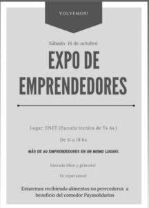 Más de 60 stands habrá en la Expo de Emprendedores