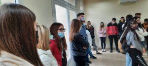 Un grupo de estudiantes visitó el futuro Polo Educativo