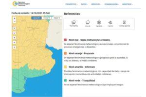 """Rige un """"alerta amarilla"""" por fuertes vientos para casi toda la Provincia"""