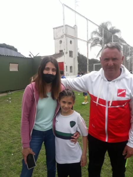 Paulina Acevedo, de 10 años y delantera de Progreso de El Perdido, se probó para Boca en el Bottino