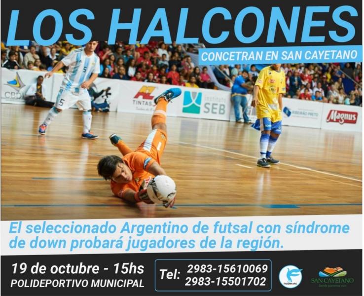 San Cayetano: Los Halcones realizarán actividades de Futsal