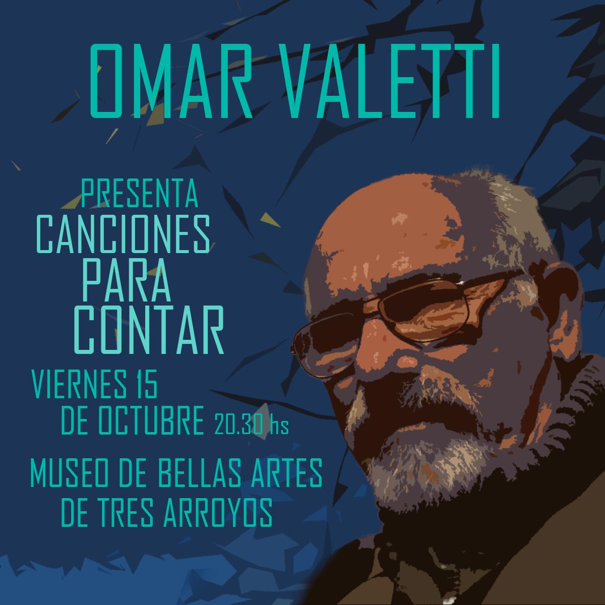 Canciones para contar: Omar Valetti se presentará en el MUBATA